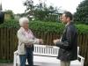 Ilon Wikland ja pr. Jüri Ilves vestlemas