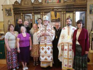Oulu metrop Elia koos kaasvaimulike ja Haapsalu koguduse aktiiviga
